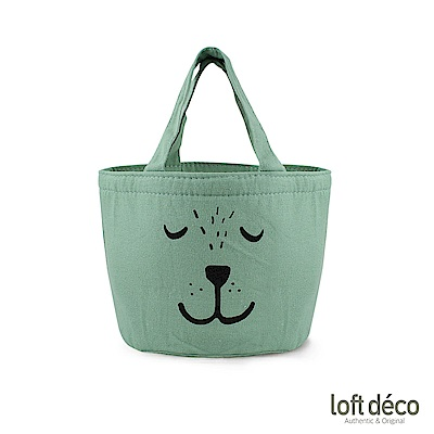 Loft Deco | Green bear | 束口保溫萬用袋