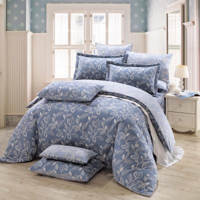 鴻宇HongYew 100%精梳棉 奧德曼 藍 雙人加大七件式兩用被床罩組