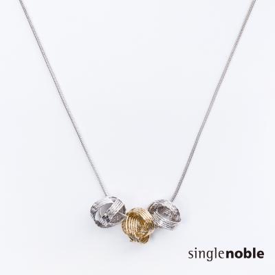 獨身貴族 優雅簡約立體質感圓環設計項鍊(1色)