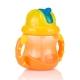 Nuby 雙耳防漏彈跳吸管水杯240ml-橘黃(12m+) product thumbnail 1