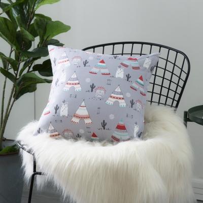 IN HOUSE-純棉抱枕-印第安熊(50x50cm)