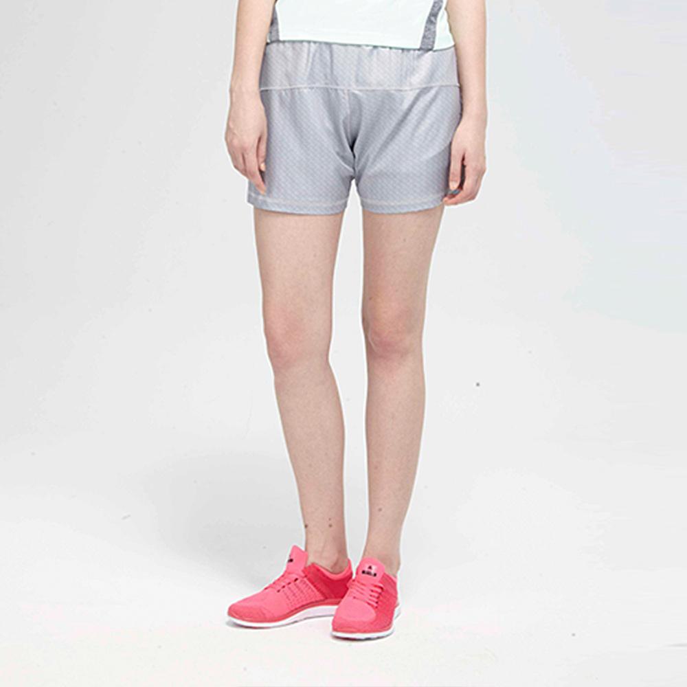 TOP GIRL純色鬆緊腰帶頭運動短褲-灰
