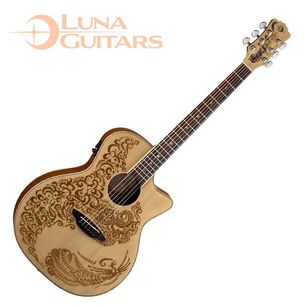 LUNA Henna 系列 Paradise AE 天堂鳥電民謠木吉他