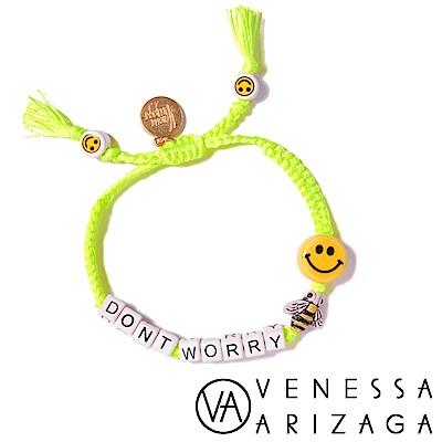 Venessa Arizaga DONT WORRY BEE HAPPY 笑臉螢光黃手鍊