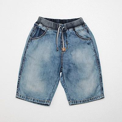 PIPPY 水洗刷色牛仔短褲 藍