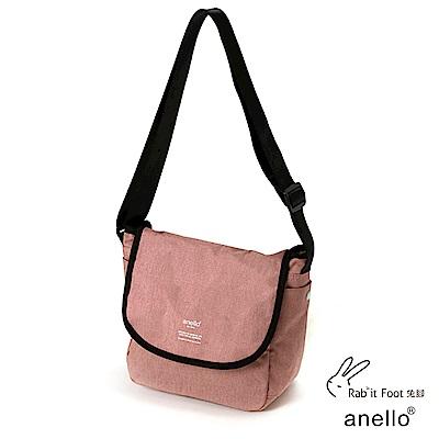 日本正版anello 混色花紋郵差小包 AT-N0661 淺粉色 NPI
