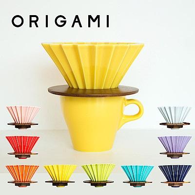 日本 ORIGAMI 摺紙咖啡陶瓷濾杯 M 第二代(9色ㄖ任選)