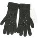 PINKO 深綠色貼飾條紋針織手套(64%WOOL) product thumbnail 1