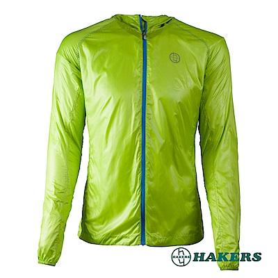 【HAKERS 哈克士】男款輕量風衣外套-綠色