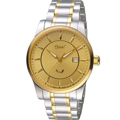Ogival 愛其華 大器風範紳士錶(350-03MSK)金/40mm