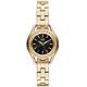 A|X Armani Exchange 經典復古貴氣都市晶鑽腕錶-黑X金/30mm product thumbnail 1