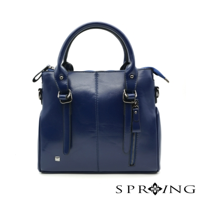 SPRING-品味英倫率性2way包-藍