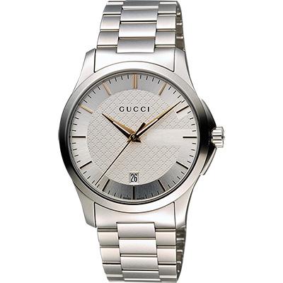 GUCCI G~Timeless 古馳菱格紋 腕錶~銀 38mm