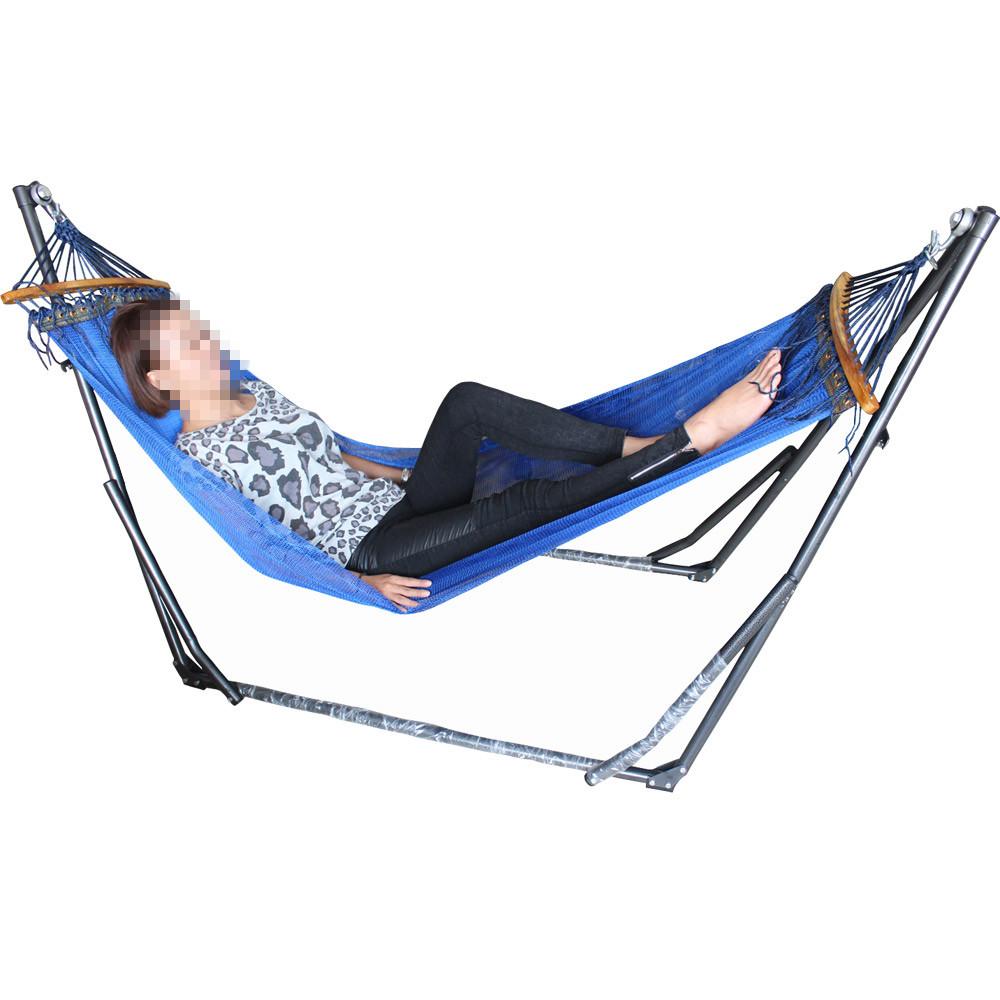 折疊式船型支架吊床 搖搖椅 室內吊床 網狀吊床 午睡床附收納袋