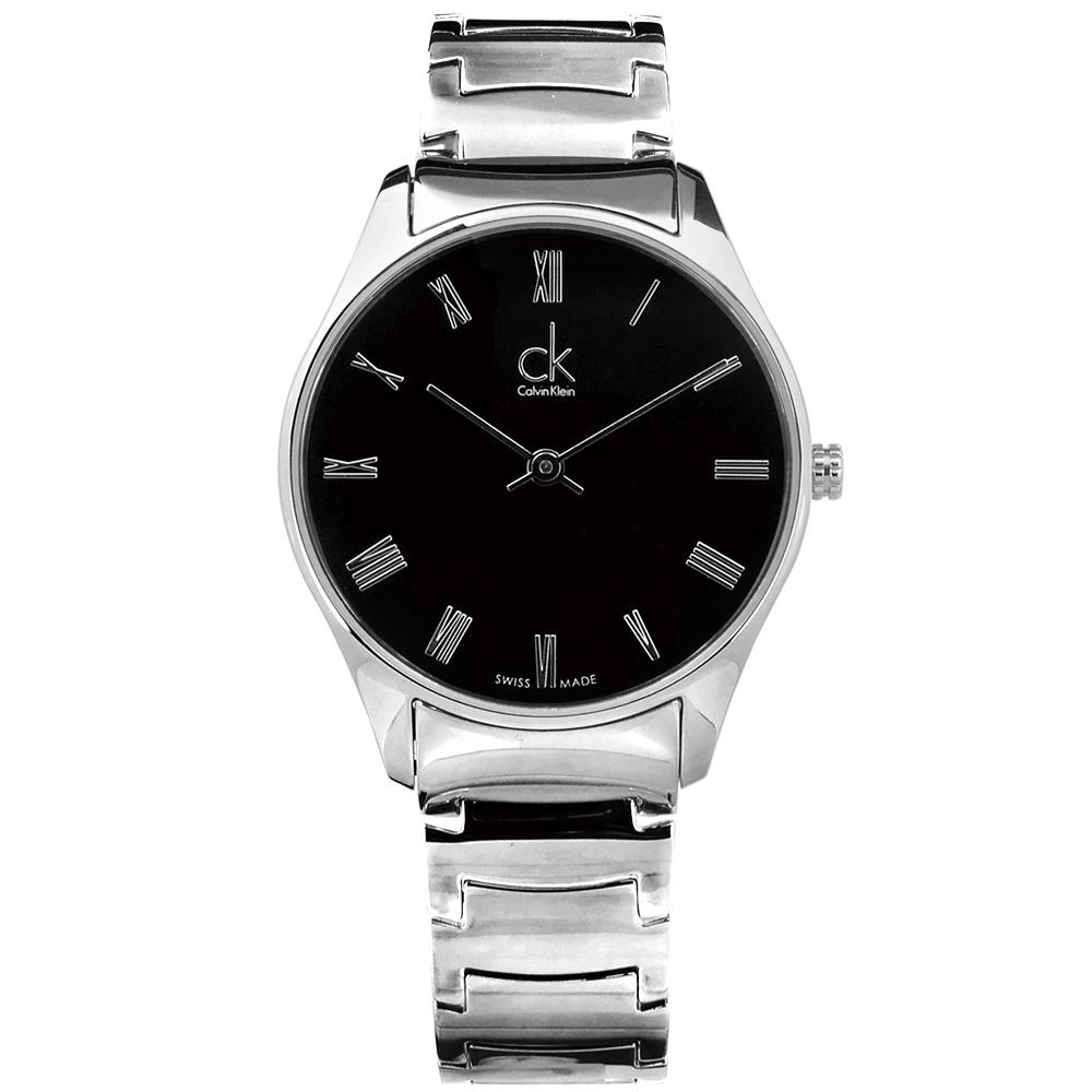 CK   Classic羅馬不鏽鋼手錶-黑色/38mm.32mm.24mm