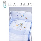 【美國 L.A. Baby】向日葵花園純棉七件套寢具組(L)( 藍色)