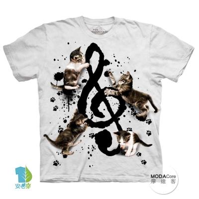 摩達客 美國進口The Mountain 貓與音符 短袖T恤