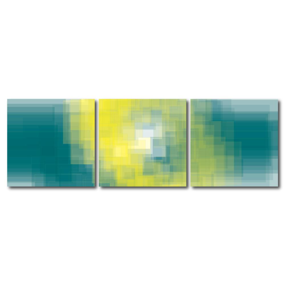 123點點貼- 三聯式無痕創意壁貼 -馬戲團垂落的布幕30*30cm