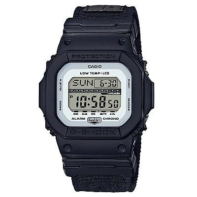 G-SHOCK軍事風飛行夾克設計極限運動休閒錶(GLS-5600CL-1)白面X黑43mm
