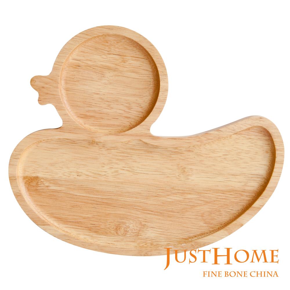 Just Home 鴨子造型橡膠木餐盤(台灣製)