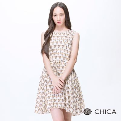 CHICA 非洲民俗圖騰無袖洋裝(2色)