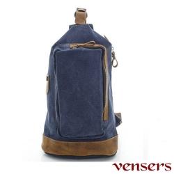 【Vensers】韓潮頂級棉麻包系列~胸包(C80581101藍色)