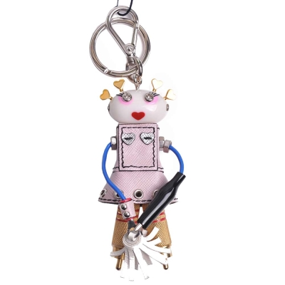 PRADA 可愛女娃娃造型吊飾鑰匙圈(粉色系)