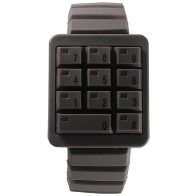 CLICK 創意爆破數字鍵盤個性腕錶-咖啡/ 40 mm