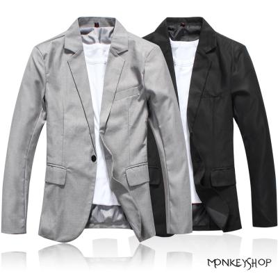 小猴子的賣場 韓版質感筆挺休閒百搭西裝外套-2色