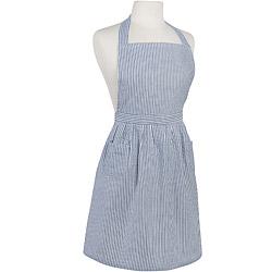 NOW 經典雙袋圍裙(條紋藍)
