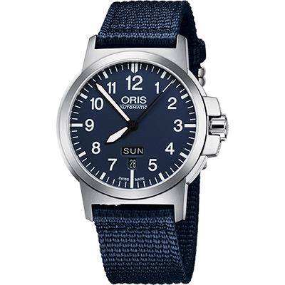 Oris BC3 Advanced 日曆星期機械腕錶-藍/42mm