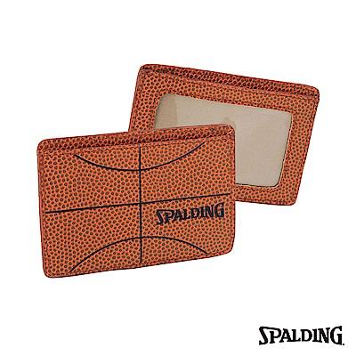 SPALDING 斯伯丁 籃球皮 卡片夾 PREMIUM CARD HOLDER 名片夾
