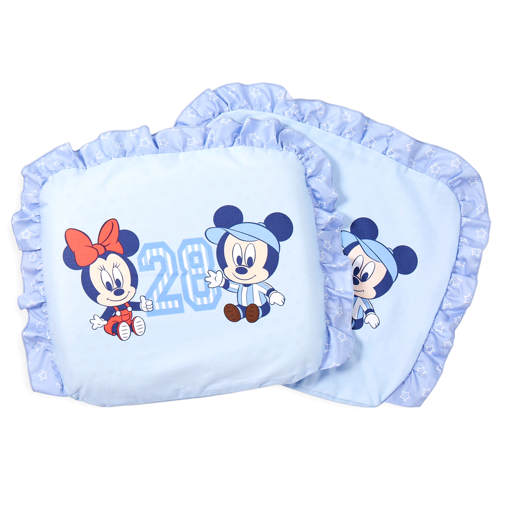 迪士尼 Disney 運動米奇乳膠圓枕(藍)