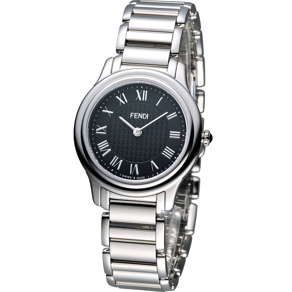 FENDI Classico 古典優雅時尚腕錶-黑/32mm