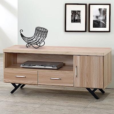 Homelike 加納4尺電視櫃(原木色)-115x40x52cm