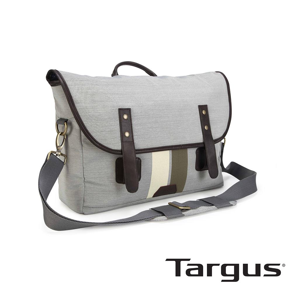 Targus Geo 復古休閒 15.6 吋皮扣信差包-象牙白
