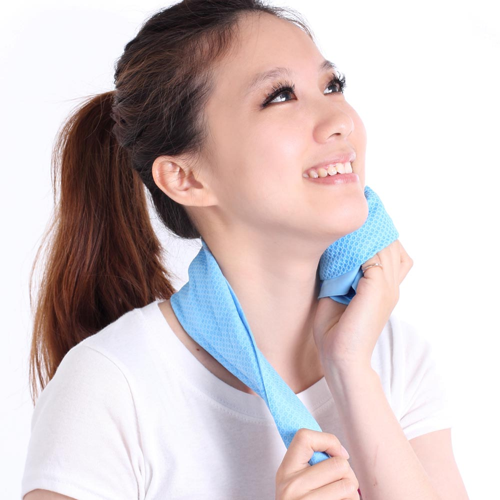 Clover瞬間涼感多用途冰涼巾(小領巾)-海洋藍