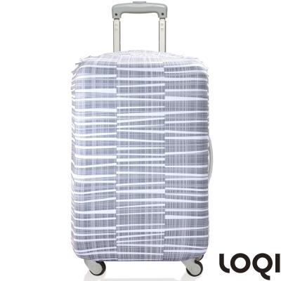 LOQI 行李箱套│-大理石M號 適用22-27吋行李箱保護套