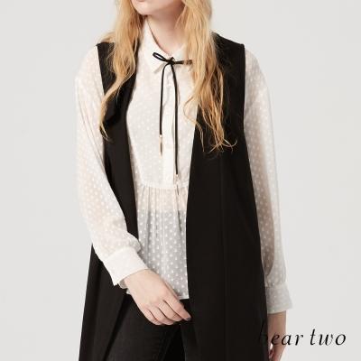 beartwo 微透肌優雅垂墜造型襯衫(白色)