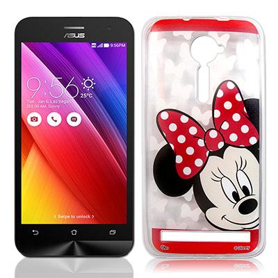 迪士尼 ASUS Zenfone 2 5.0吋 大頭娃透明彩繪手機殼