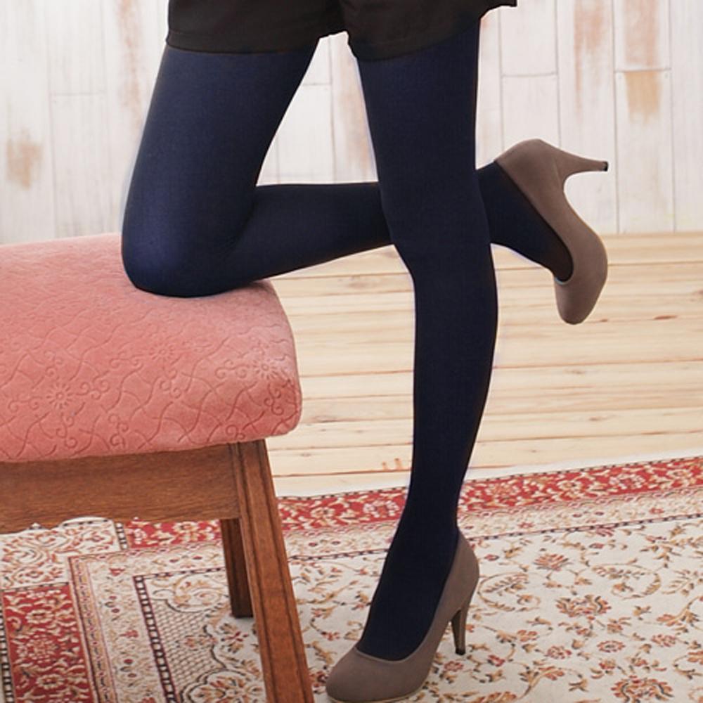 I-shi vivi流行彩色褲襪深藍