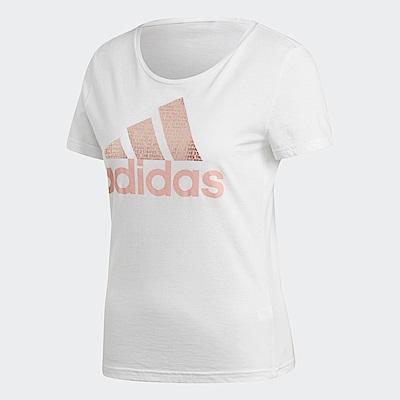 adidas Logo 短袖上衣 女 CV4562