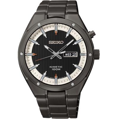 SEIKO Kinetic 極限空間 人動電能腕錶(SMY153P1)-IP黑/42mm