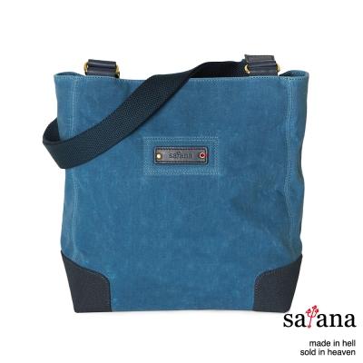 satana - 雙面肩背包 - 靛藍色