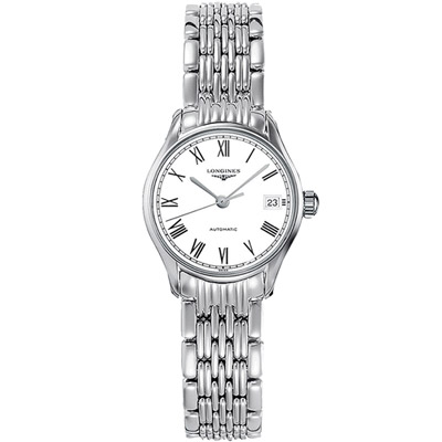 LONGINES浪琴 律雅系列優雅時尚腕錶 -銀色/25mm