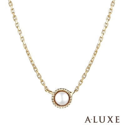 A-LUXE 亞立詩 10K小幸運珍珠項鍊