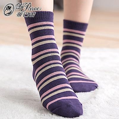 蒂巴蕾 流行女棉襪-細彩條紋