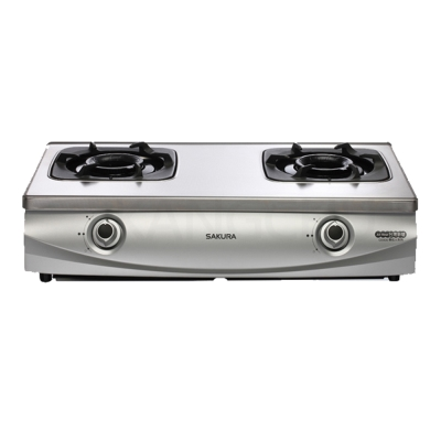 櫻花牌 G5900S 雙炫火珍珠壓紋傳統式二口瓦斯爐