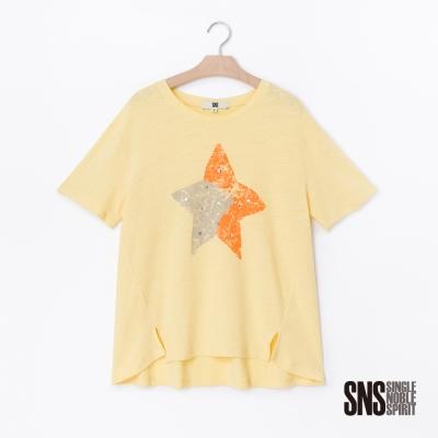 SNS 美式隨性風斑駁星星圖騰設計上衣(2色)