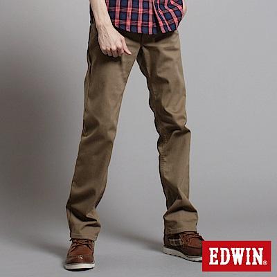 EDWIN大尺碼 EDGE W-F中直筒保溫褲-男款-卡其色